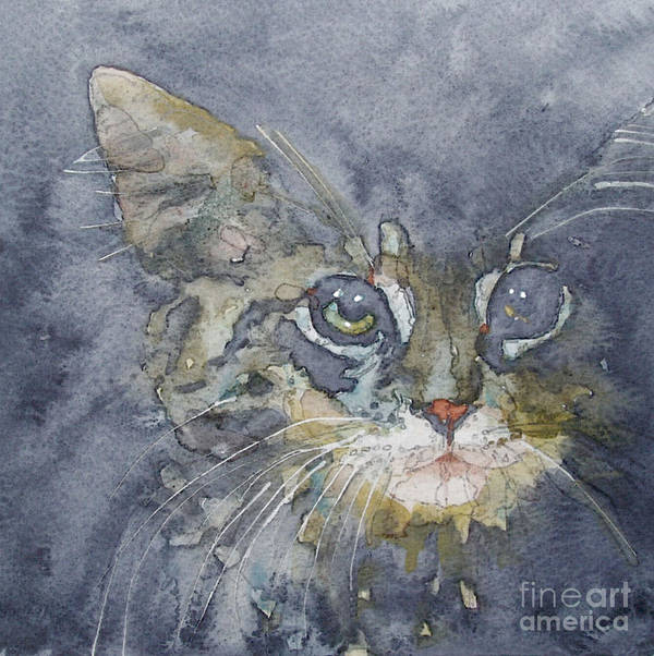 Tabby Print featuring the painting Out The Blue You Came To Me by Paul Lovering