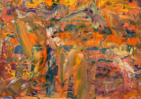 Abstract Print featuring the painting Paint Number 45 by James W Johnson