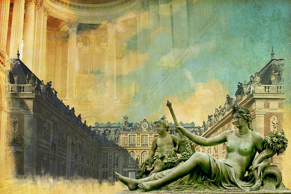Western Ghats Print featuring the painting Palace And Park Of Versailles Unesco World Heritage Site by Catf