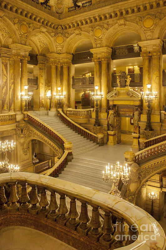 Architectural Print featuring the photograph Palais Garnier Interior by Brian Jannsen