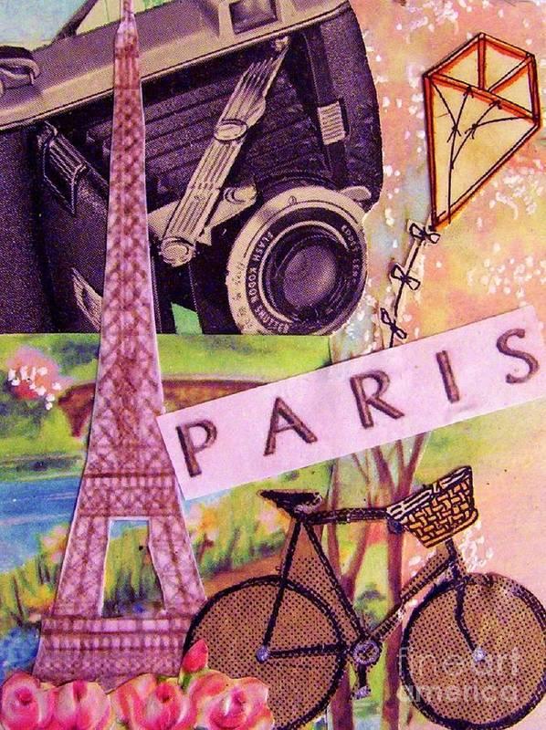 Paris Print featuring the drawing Paris by Eloise Schneider
