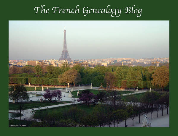 France Print featuring the photograph Paris In The Fall With Fgb Border by A Morddel