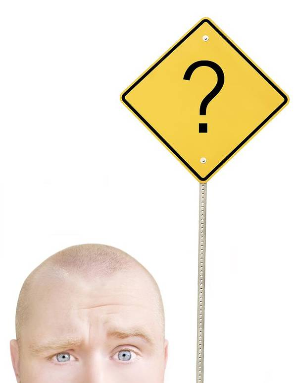 30-35 Years Print featuring the photograph Part Of A Mans Head And A Sign by Chris and Kate Knorr