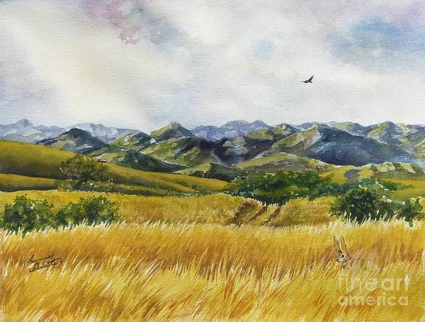 Arizona Print featuring the painting Patagonia Just Down The Valley by Summer Celeste
