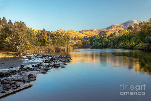 Idaho Print featuring the photograph Peaceful River by Robert Bales