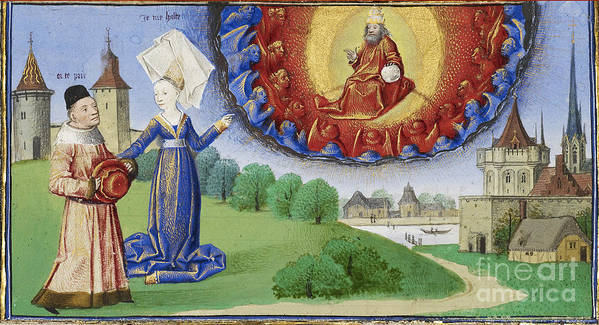 Boethius Print featuring the photograph Philosophy Instructs Boethius On God by Getty Research Institute