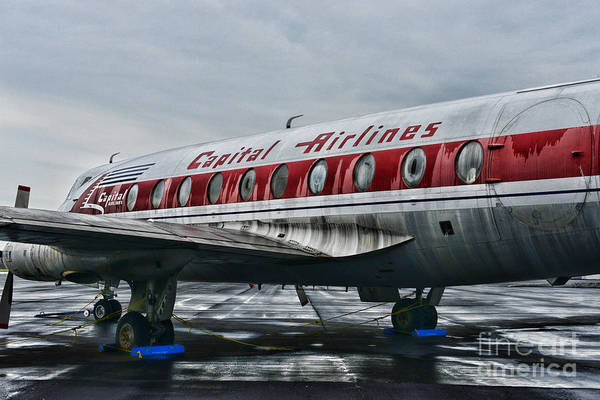 Paul Ward Print featuring the photograph Plane Obsolete Capital Airlines by Paul Ward