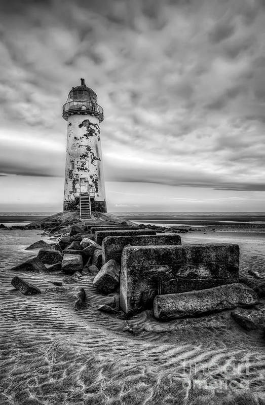 Abandoned Print featuring the photograph Point Of Ayre Lighthouse by Adrian Evans
