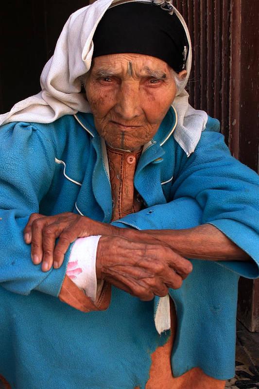 Berber Woman Print featuring the photograph Portrait Of A Berber Woman by Ralph A Ledergerber-Photography