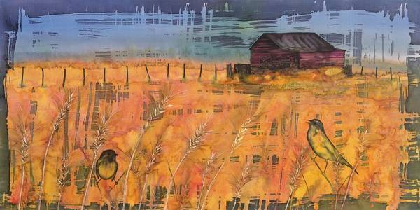 Farm Print featuring the tapestry - textile Prairie Song by Carolyn Doe