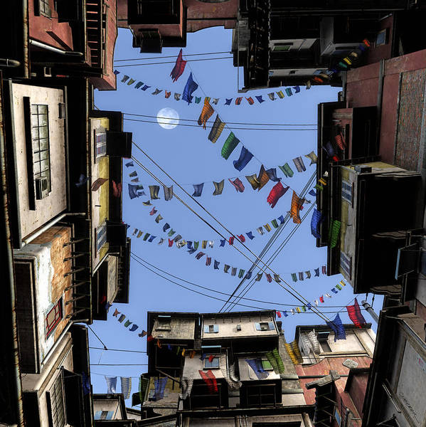 Prayer Flags Print featuring the digital art Prayer Flags by Cynthia Decker