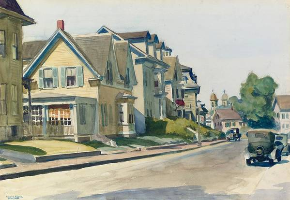 Prospect Street Print featuring the painting Prospect Street by Edward Hopper