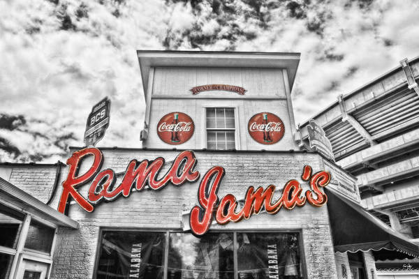 Selective Color Print featuring the photograph Rama Jama's by Scott Pellegrin