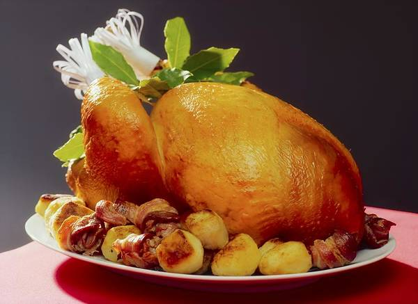 Christmas Print featuring the photograph Roast Turkey by The Irish Image Collection