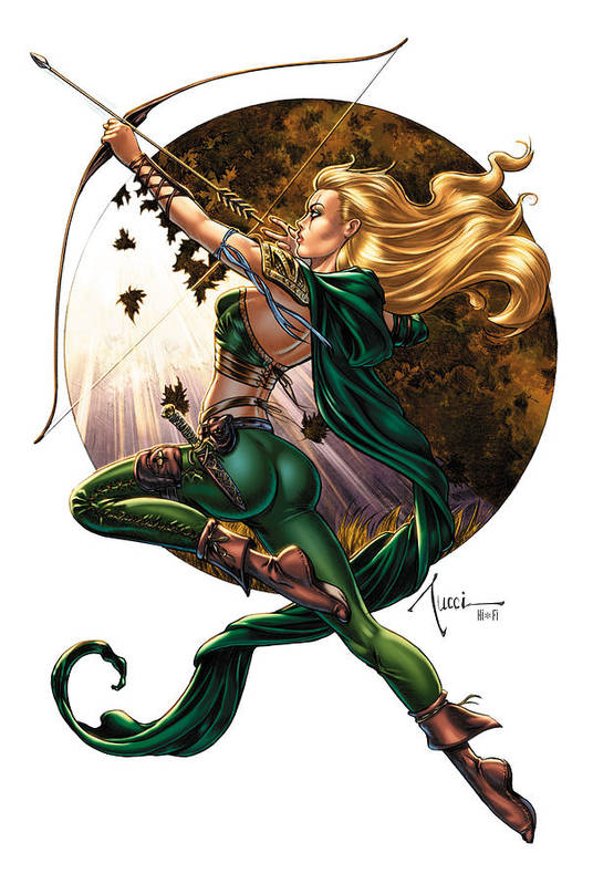Grimm Fairy Tales Print featuring the drawing Robyn Hood 01h by Zenescope Entertainment