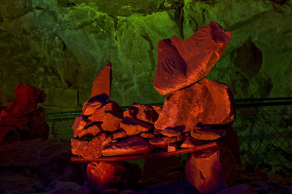 Grand Canyon Caverns Print featuring the photograph Rocky by Kenan Sipilovic