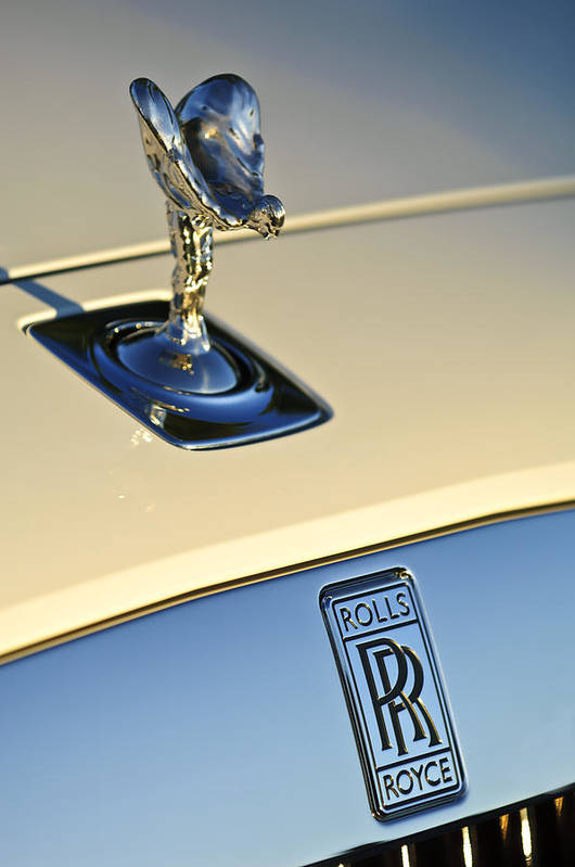 Rolls-royce Print featuring the photograph Rolls-royce Hood Ornament 3 by Jill Reger