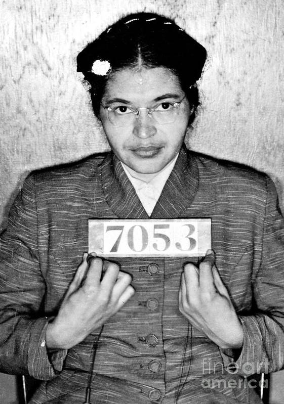 Rosa Print featuring the photograph Rosa Parks by Unknown
