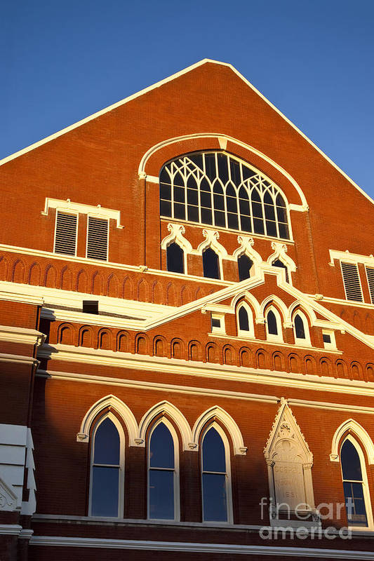 Ryman Auditorium Print featuring the photograph Ryman Auditorium by Brian Jannsen