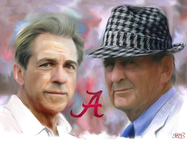 Mark Spears Print featuring the painting Saban And Bear by Mark Spears