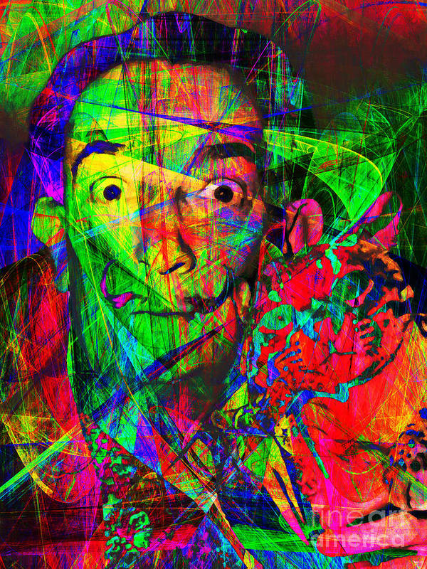 Celebrity Print featuring the photograph Salvador Dali 20130613 by Wingsdomain Art and Photography