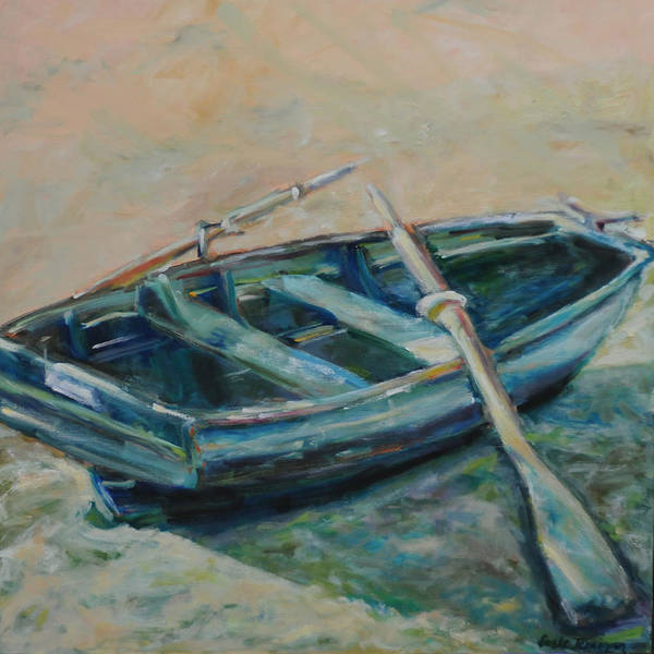 Boat Print featuring the painting San Francisco Dinghy by Susie Jernigan