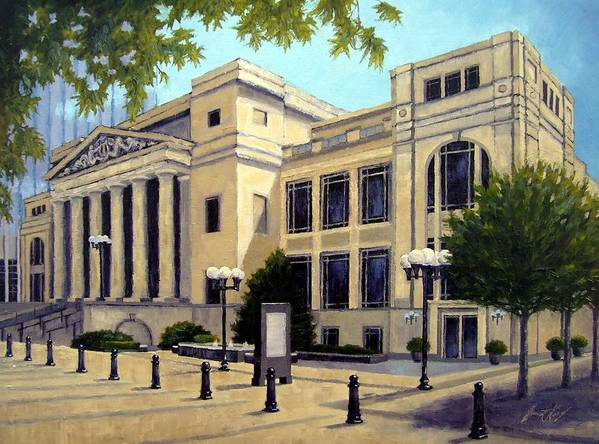 Nashville Print featuring the painting Schermerhorn Symphony Center by Janet King