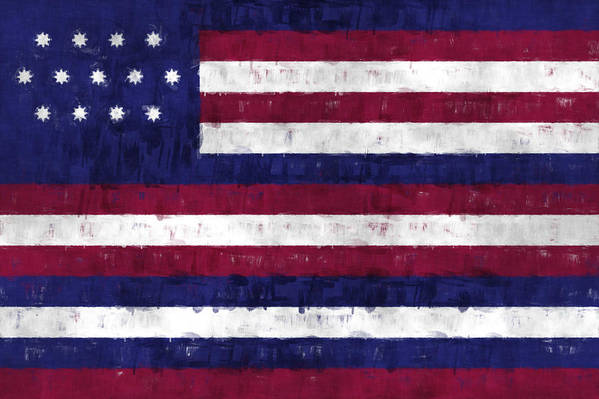 American Flags Print featuring the digital art Serapis Flag by World Art Prints And Designs