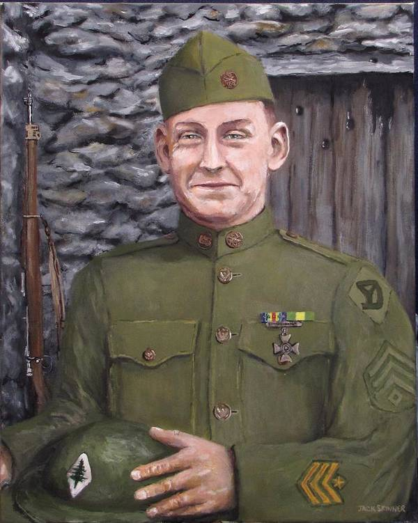 Sgt Sam Avery Print featuring the painting Sgt Sam Avery by Jack Skinner