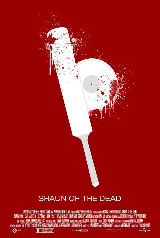 Zombies Print featuring the digital art Shaun Of The Dead Custom Poster by Jeff Bell