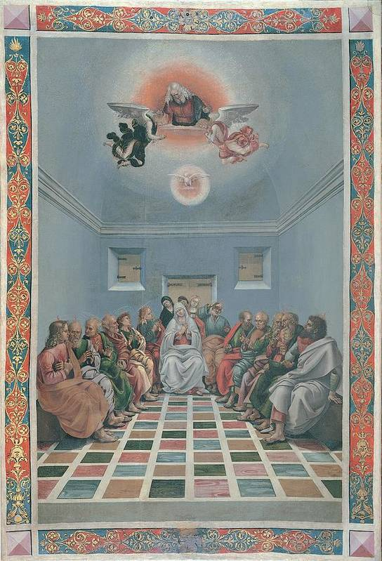 Pentecost Print featuring the photograph Signorelli Luca, Standard Crucifixion by Everett