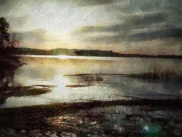 Sunrise Print featuring the digital art Silver Morning by Gun Legler