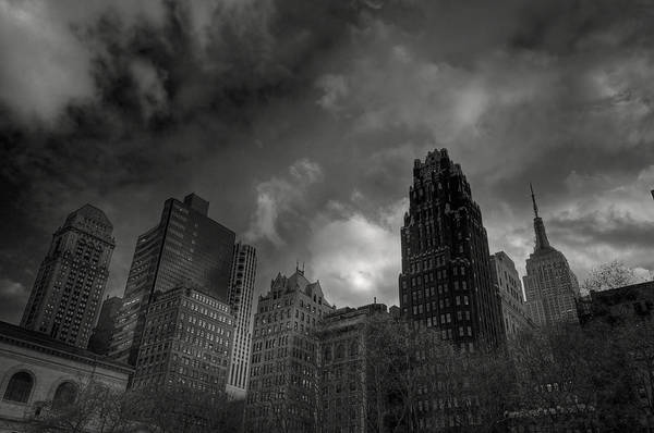 Building Print featuring the photograph Skyscrapers by Mike Horvath