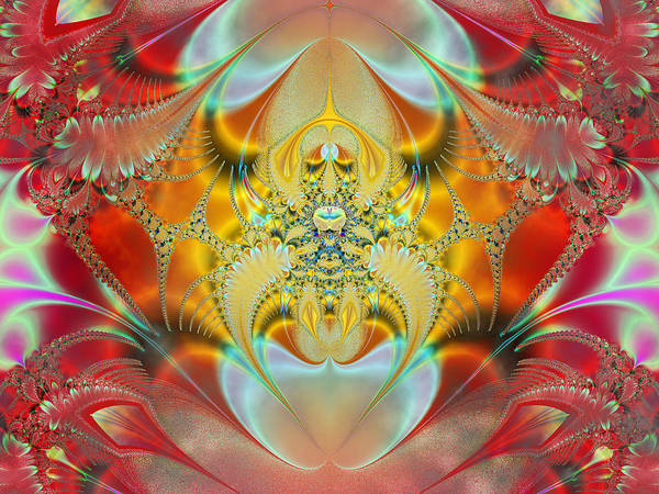 Abstract Print featuring the digital art Sleeping Genie by Ian Mitchell