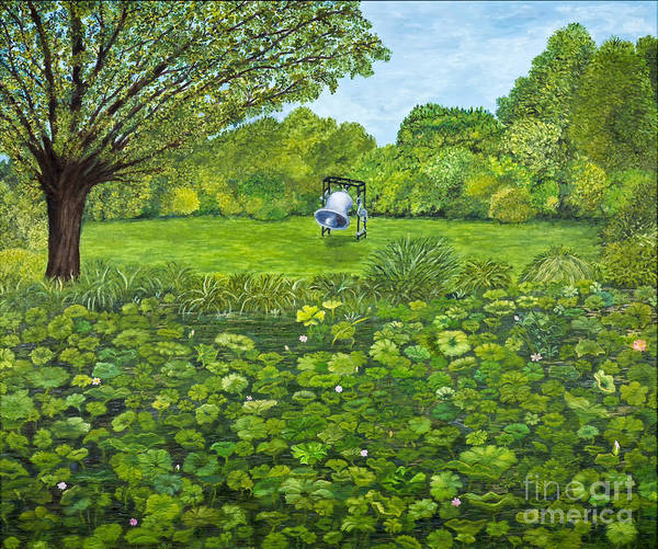 Pond Print featuring the painting Sound Of Nature By Kevin Davis by Sheldon Kralstein
