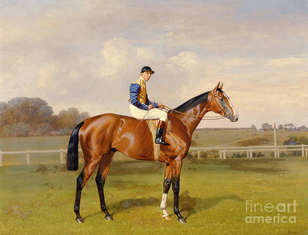 Horse Print featuring the painting Spearmint Winner Of The 1906 Derby by Emil Adam