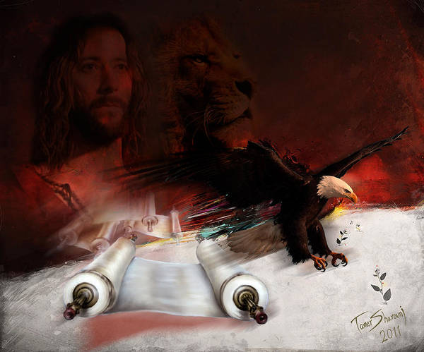 Christian Print featuring the digital art Speed In The Spirit by Tamer and Cindy Elsharouni