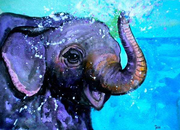 Splish Splash Print featuring the painting Splish Splash by Debi Starr
