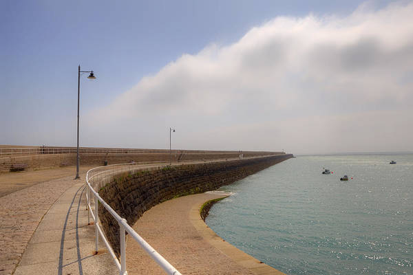 St Catherine's Breakwater Print featuring the photograph St Catherine's Breakwater - Jersey by Joana Kruse
