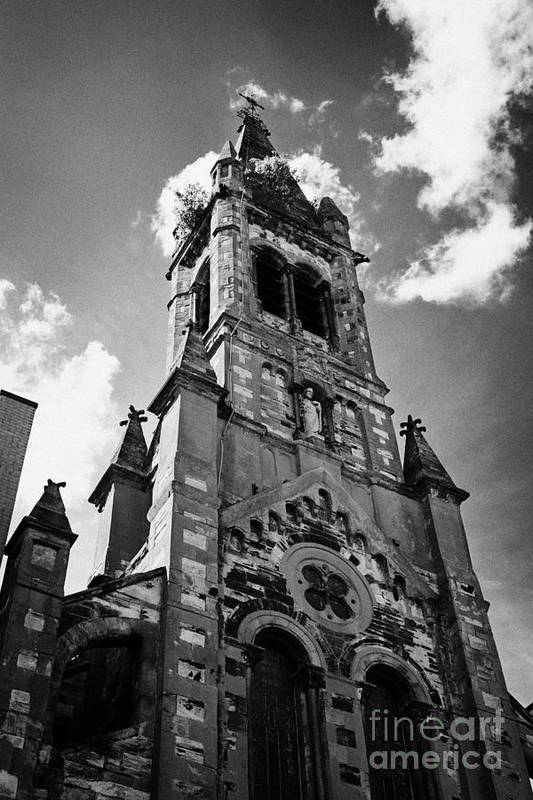 Belfast Print featuring the photograph St Josephs Chapel Sailortown Belfast Northern Ireland Uk by Joe Fox