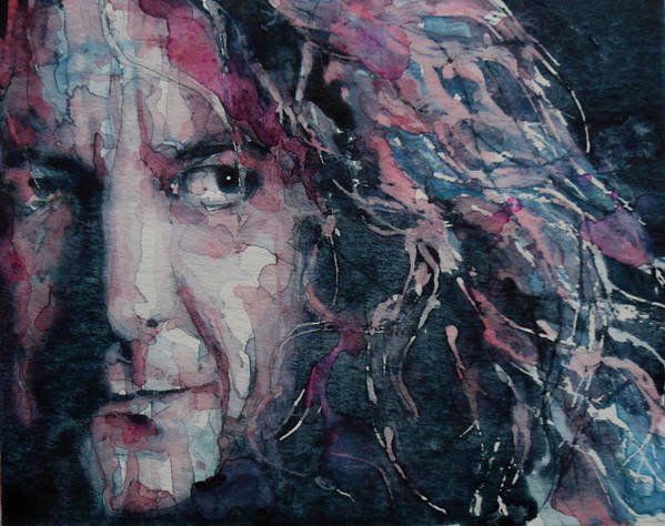 Robert Plant Print featuring the painting Stairway To Heaven by Paul Lovering