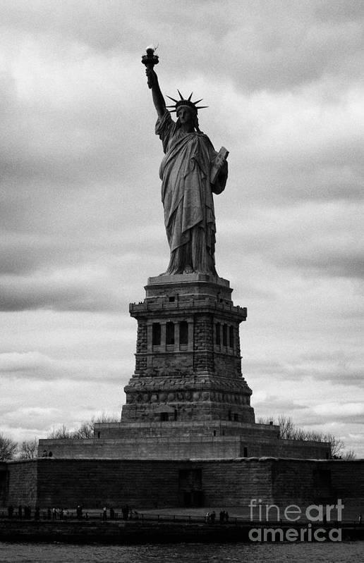 Usa Print featuring the photograph Statue Of Liberty National Monument Liberty Island New York City Usa by Joe Fox