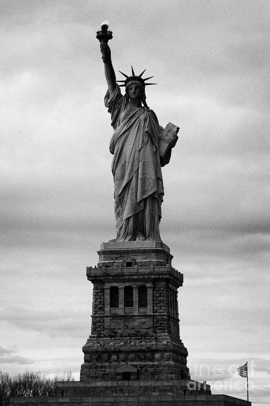 Usa Print featuring the photograph Statue Of Liberty National Monument Liberty Island New York City Usa Nyc by Joe Fox
