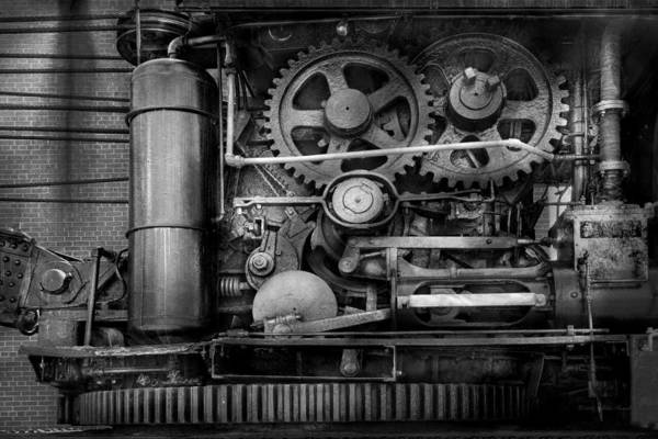 Self Print featuring the photograph Steampunk - Serious Steel by Mike Savad