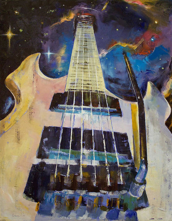 Stellar Print featuring the painting Stellar Rift by Michael Creese