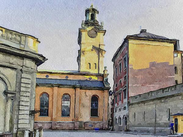 Stockholm Print featuring the digital art Stockholm 1 by Yury Malkov
