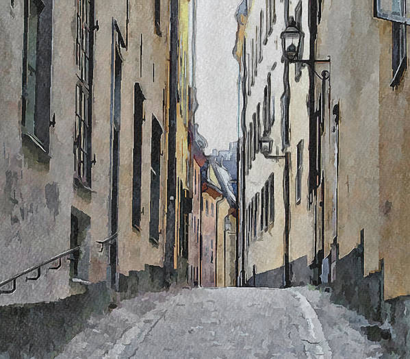 Stockholm Print featuring the digital art Stockholm 13 by Yury Malkov