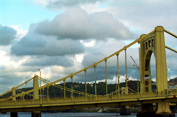 Allegheny Print featuring the photograph Stormy Bridge by Frank Romeo