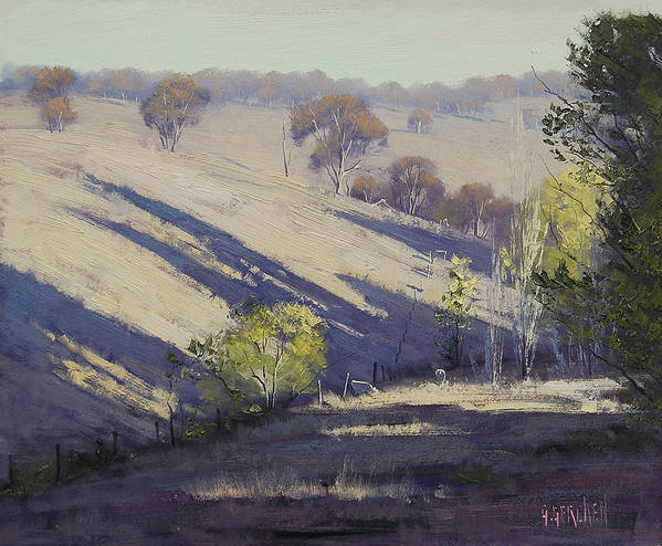 Rural Print featuring the painting Summer Afternoon Shadows by Graham Gercken