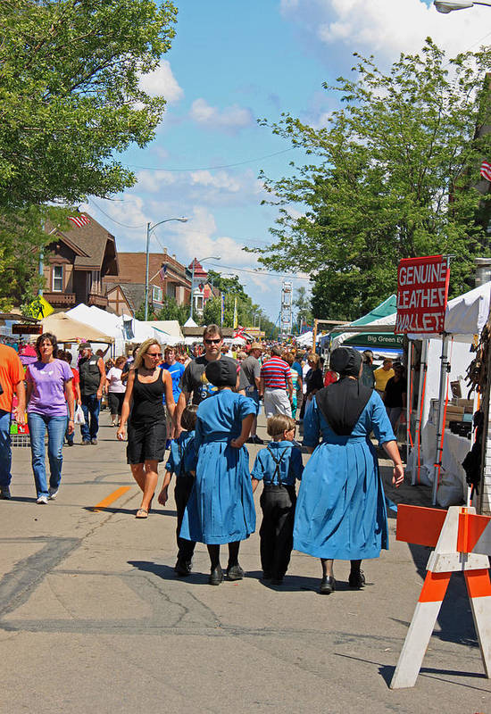 Festival Print featuring the photograph Summer Festival In Berne Indiana by Suzanne Gaff